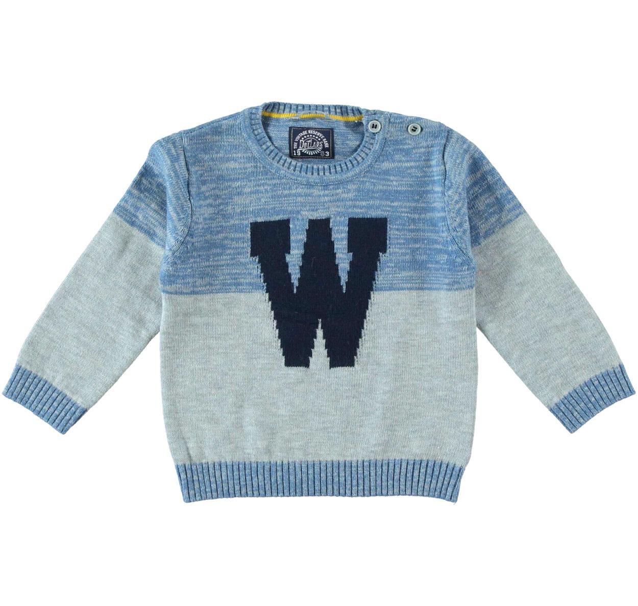 2520dc793b Maglia girocollo in tricot misto cotone lana per bambino da 6 mesi a 7 anni  Sarabanda
