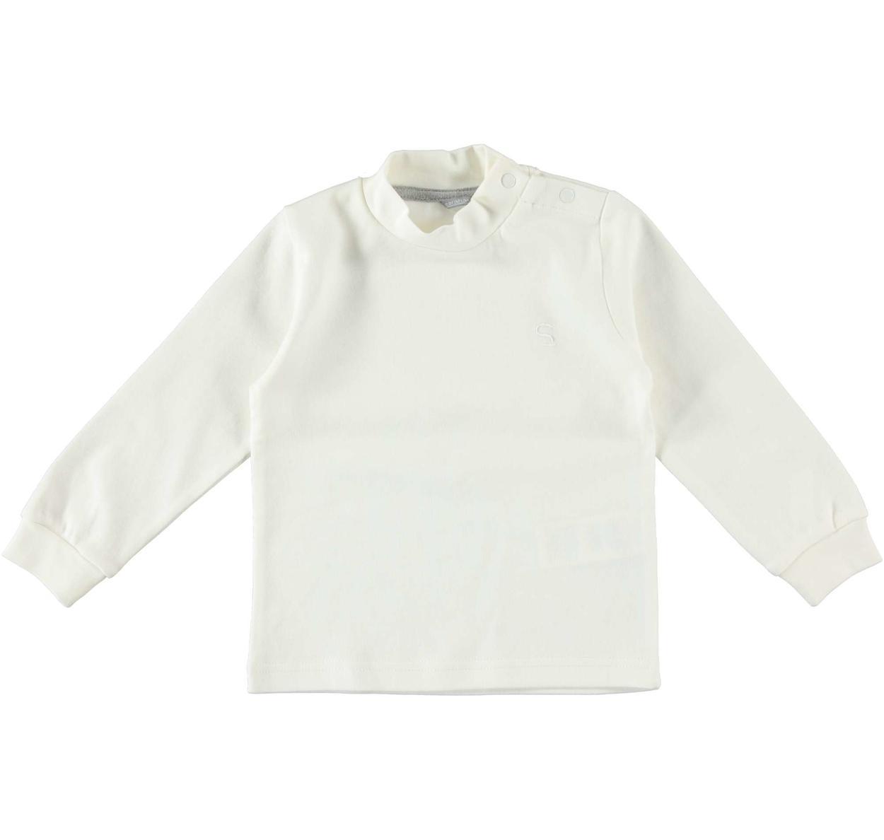 e8327740a8 Maglietta girocollo in tinta unita a manica lunga per bambino da 6 mesi a 7  anni Sarabanda