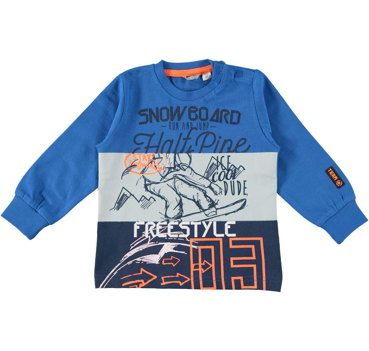 025bdcab3b Maglietta in caldo cotone tema snowboard per bambino da 6 mesi a 7 anni  Sarabanda