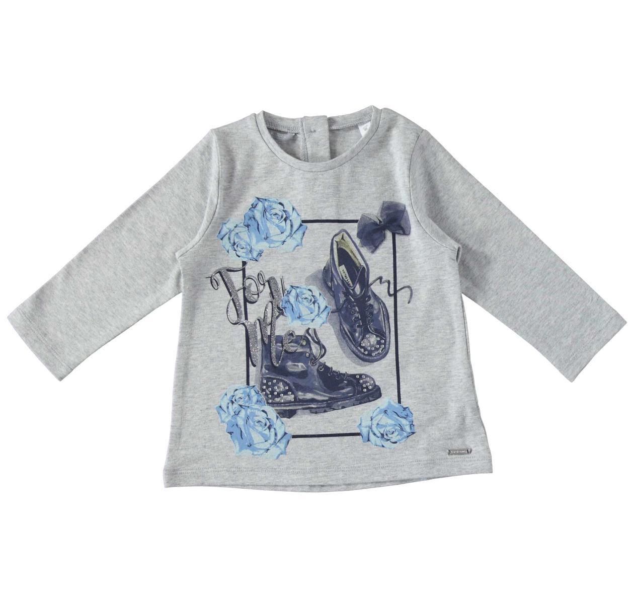 89984e1cb2 Maglietta in cotone elasticizzato finitura calda per bambina da 6 mesi a 7  anni Sarabanda
