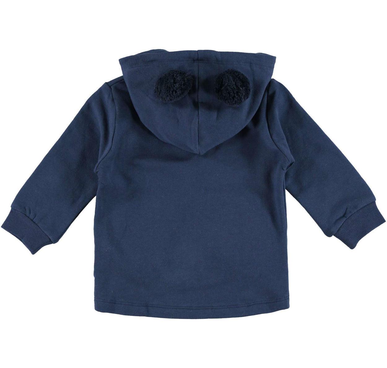 super popolare 3ad41 aa780 Felpa con cappuccio con pom pon in pelliccia ecologica per bambina da 6  mesi a 7 anni Sarabanda