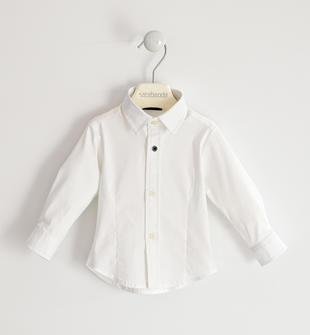Camicia classica in popeline stretch sarabanda BIANCO-0113