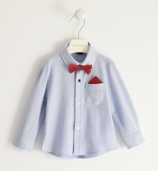 Camicia classica in piquet con pochette e papillon sarabanda AVION-3621