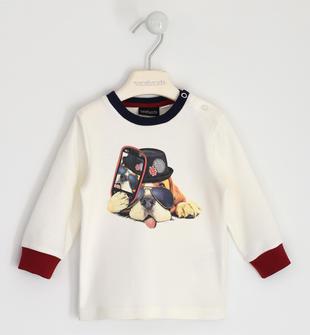 Maglietta girocollo 100% cotone con simpatica stampa sarabanda PANNA-0112