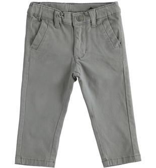 Pantalone classico in twill elasticizzato sarabanda GRIGIO SCURO-0564