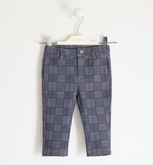 Pantalone in punto milano fantasia principe di galles sarabanda GRIGIO-MULTICOLOR-6NY6