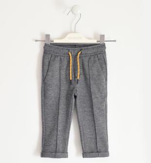 Pantalone in maglia micro fantasia con coulisse sarabanda NAVY-3885