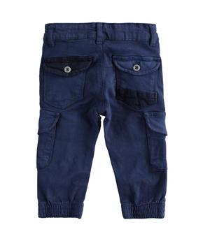 Pantalone modello cargo in twill stretch sarabanda NAVY-3854