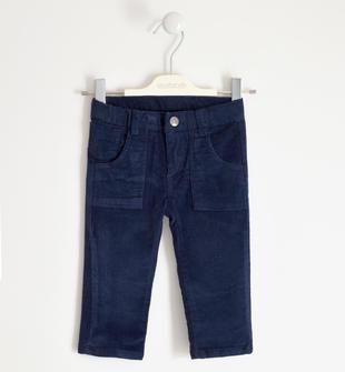 Pantalone invernale in velluto stretch sarabanda NAVY-3854