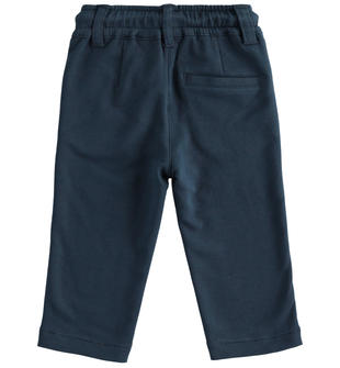 Pantalone classico in felpa con rovescia sarabanda NAVY-3885