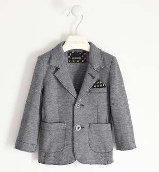 Giacca in maglia con pochette per bambino sarabanda NAVY-3885