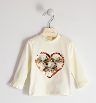Lupetto in jersey con cuore sarabanda PANNA-0112