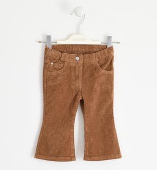 Pantalone in velluto con cuore di strass sarabanda BEIGE-1117