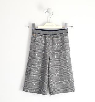 Pantalone modello crop in principe di galles sarabanda NAVY-3885