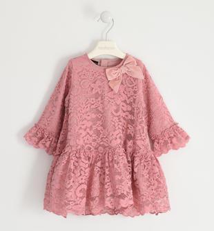 Elegante abito in trina ricamata sarabanda ROSA-3031
