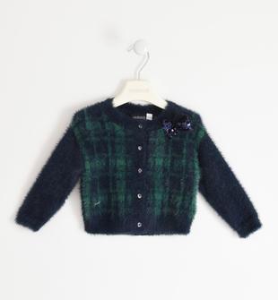 Cardigan in tricot lurex con fiocco sarabanda NAVY-3885