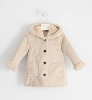 Cappotto modello shearling per bambina sarabanda BEIGE-BEIGE-8208