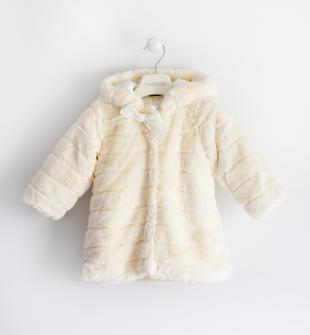 Giubbotto in morbido tessuto con cappuccio sarabanda PANNA-0112