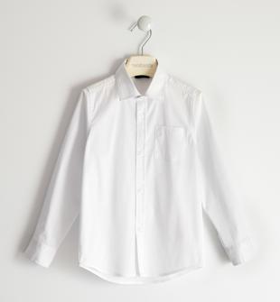 Camicia in popeline stretch per bambino sarabanda BIANCO-0113