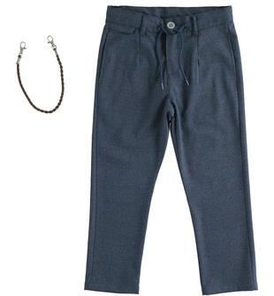 Pantalone elegante con coulisse e portachiavi sarabanda NAVY-3885