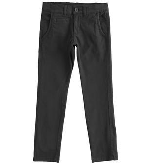 Pantalone slim fit in twill stretch sarabanda NERO-0658