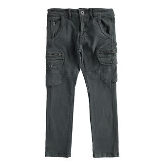 Pantalone modello cargo in twill di cotone sarabanda ANTRACITE-0558