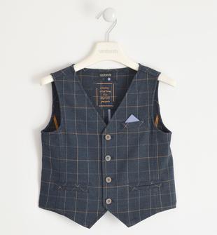 Elegante gilet con pochette per bambino sarabanda BLU-BEIGE-8030
