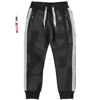 Pantalone lungo in felpa garzata