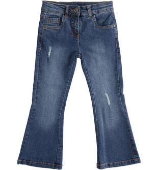 Pantalone denim stretch a trombetta sarabanda STONE WASHED-7450