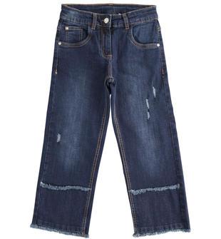 Pantalone in denim, ampio e comodo sarabanda BLU-7750
