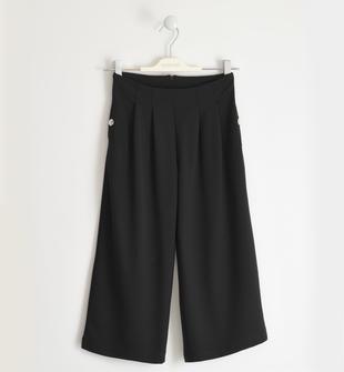 Pantalone modello palazzo in punto milano sarabanda NERO-0658