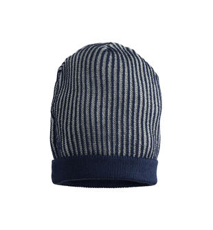 Cappello modello cuffia in tricot a costine sarabanda NAVY-3854