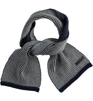 Sciarpa per bambino in tricot con lavorazione a costine sarabanda NAVY-3854