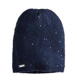 Cappello modello cuffia in tricot con micro paillettes sarabanda NAVY-3885