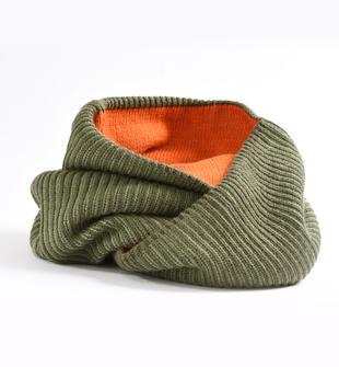 Sciarpa ad anello in maglia a coste sarabanda VERDE MILITARE-5557