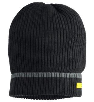 Cappello modello cuffia con lavorazione a costina sarabanda NERO-0658