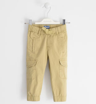Pantalone in popeline vestibilità cargo sarabanda BEIGE-0731