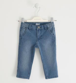 Grazioso pantalone effetto denim rigato sarabanda STONE WASHED-7450