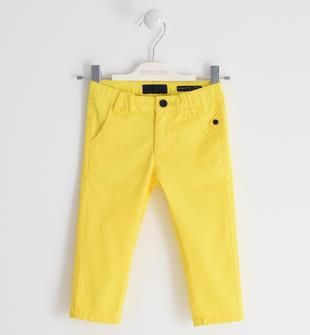 Pantalone in twill stretch sarabanda GIALLO-1446