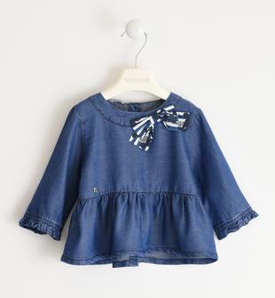 Elegante camicia con fiocco sarabanda STONE WASHED-7450
