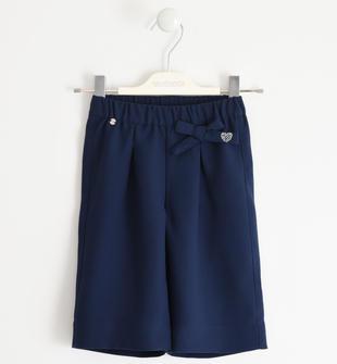 Pantalone modello palazzo in crêpe sarabanda NAVY-3854