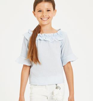 Graziosa camicia con arricciatura sarabanda SKY-5818