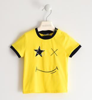 Simpatica t-shirt in jersey stretch sarabanda GIALLO-1444