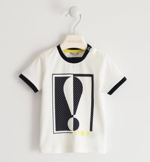 T-shirt in jersey 100% cotone con punto esclamativo sarabanda PANNA-0112