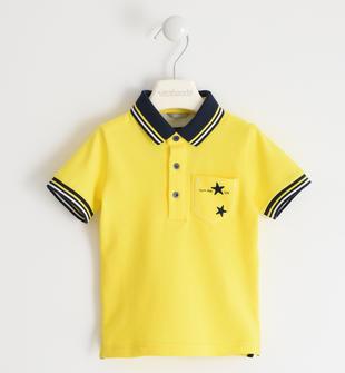 Polo in piquet 100% cotone con stelle sarabanda GIALLO-1444