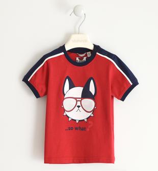 Spiritosa t-shirt 100% cotone sarabanda ROSSO-2253
