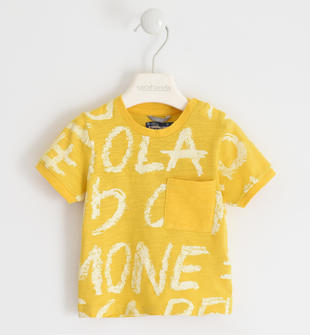 Colorata t-shirt 100% cotone sarabanda GIALLO-BIANCO-6MU5