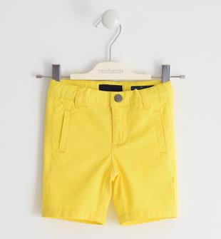 Pantalone corto in twill stretch di cotone sarabanda GIALLO-1446