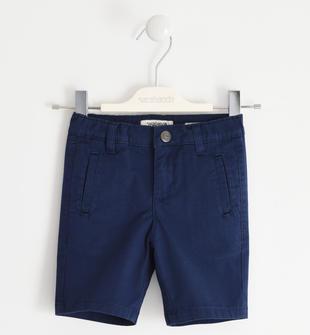Pantalone corto in twill stretch di cotone sarabanda