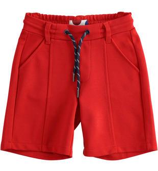 Pantalone corto in punto milano sarabanda ROSSO-2253